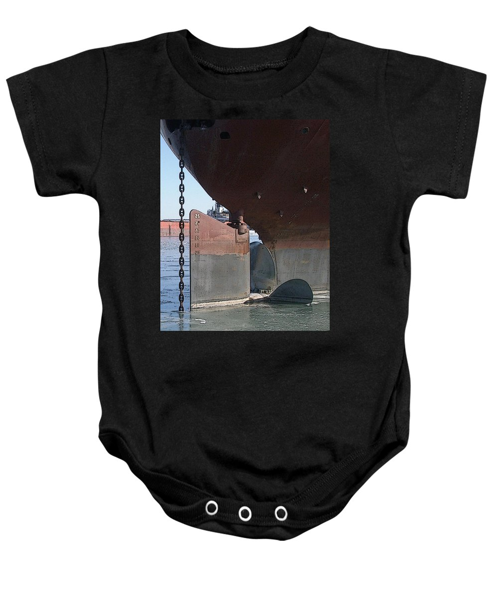 Prop Baby Onesie featuring the photograph Ryerson Prop by Tim Nyberg