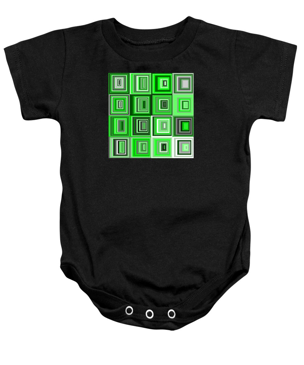 Abstract Baby Onesie featuring the digital art S.5.12 by Gareth Lewis