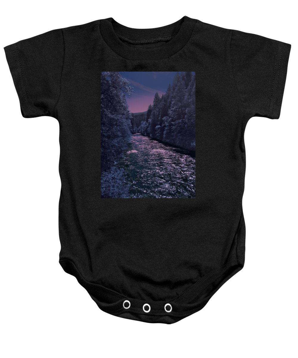Landscape Baby Onesie featuring the photograph Sacramento River by Karen W Meyer
