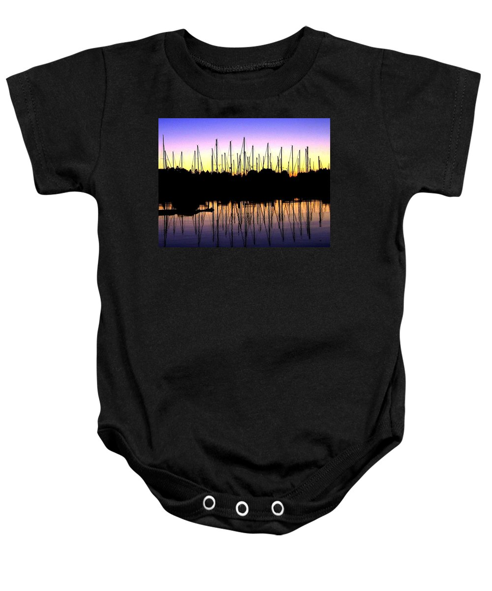 Sailboats Baby Onesie featuring the photograph Safe Haven by Will Borden