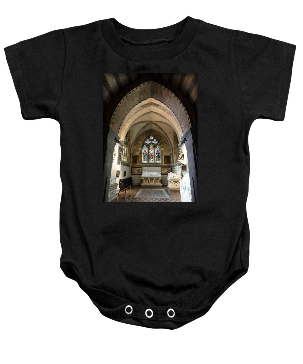 Sage Chapel Baby Onesie featuring the photograph Sage Chapel Memorial Room by Stephen Stookey