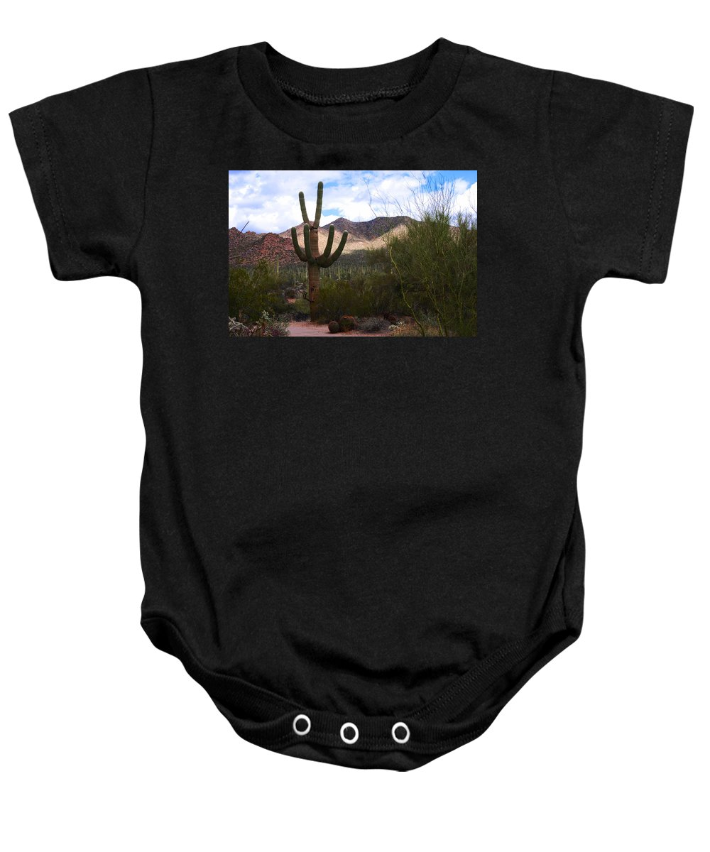 Photography Baby Onesie featuring the photograph Saguaro National Park by Susanne Van Hulst