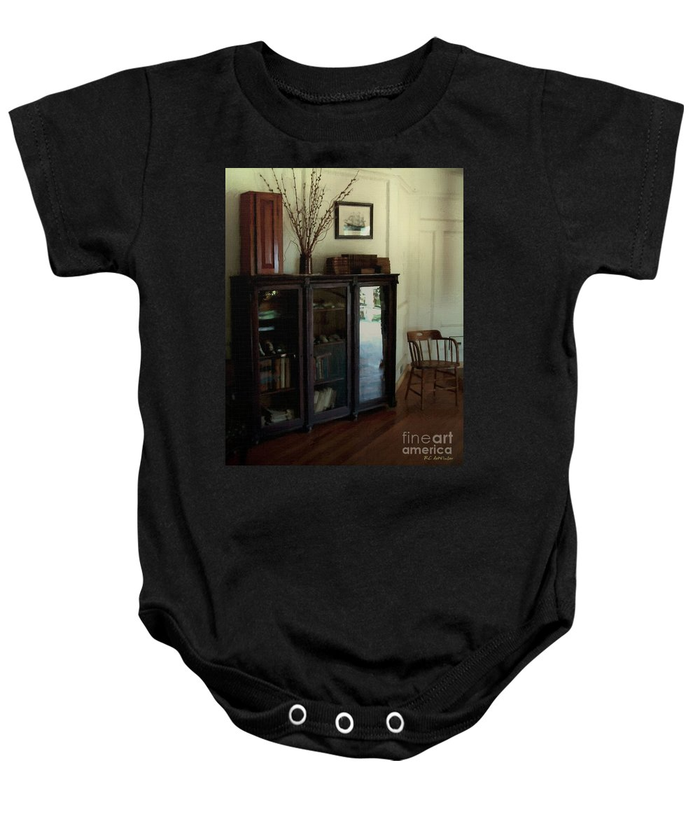 Historic Baby Onesie featuring the painting Sailor's Rest by RC DeWinter