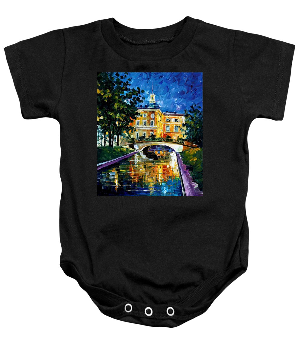City Baby Onesie featuring the painting saint petersburg Russia by Leonid Afremov