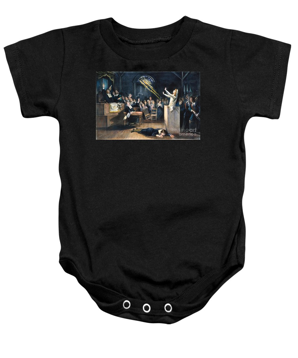 1692 Baby Onesie featuring the photograph Salem Witch Trial, 1692 by Granger