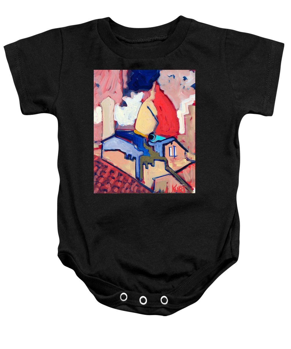 Florence Baby Onesie featuring the painting Salutare by Kurt Hausmann