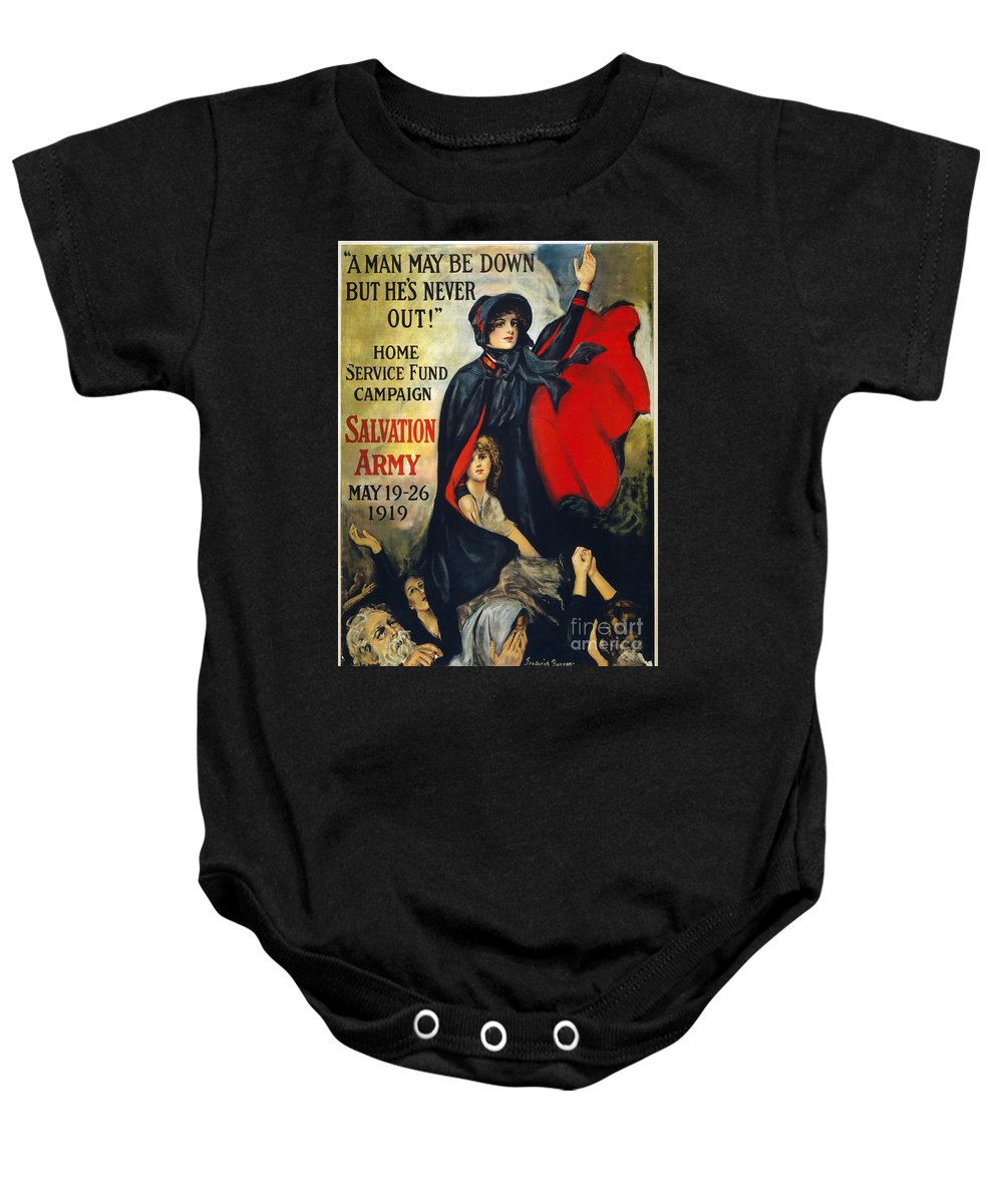 1919 Baby Onesie featuring the photograph Salvation Army Poster, 1919 by Granger