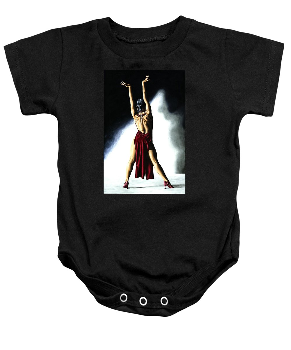 Samba Baby Onesie featuring the painting Samba Celebration by Richard Young