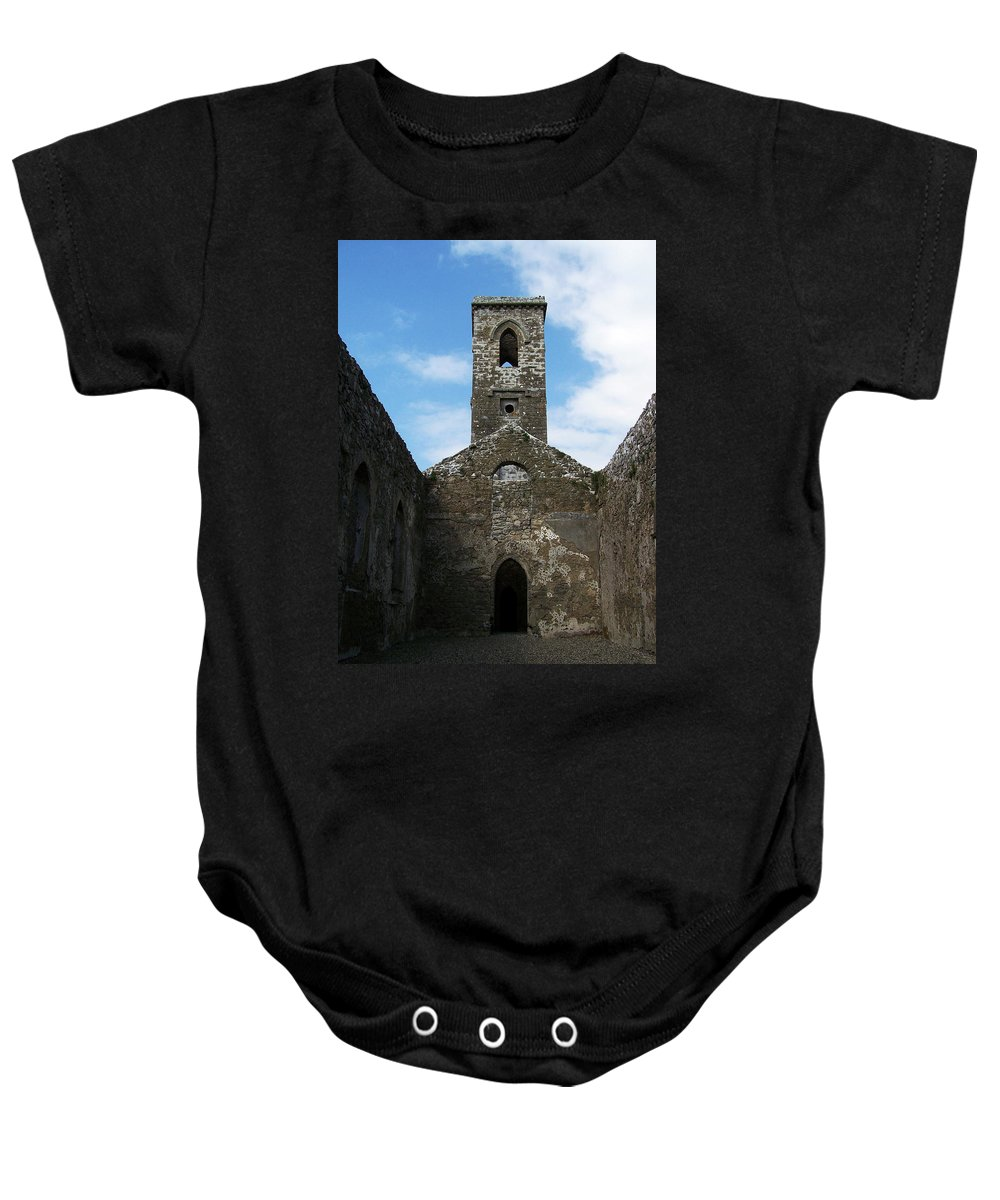 Ireland Baby Onesie featuring the photograph Sanctuary Fuerty Church Roscommon Ireland by Teresa Mucha