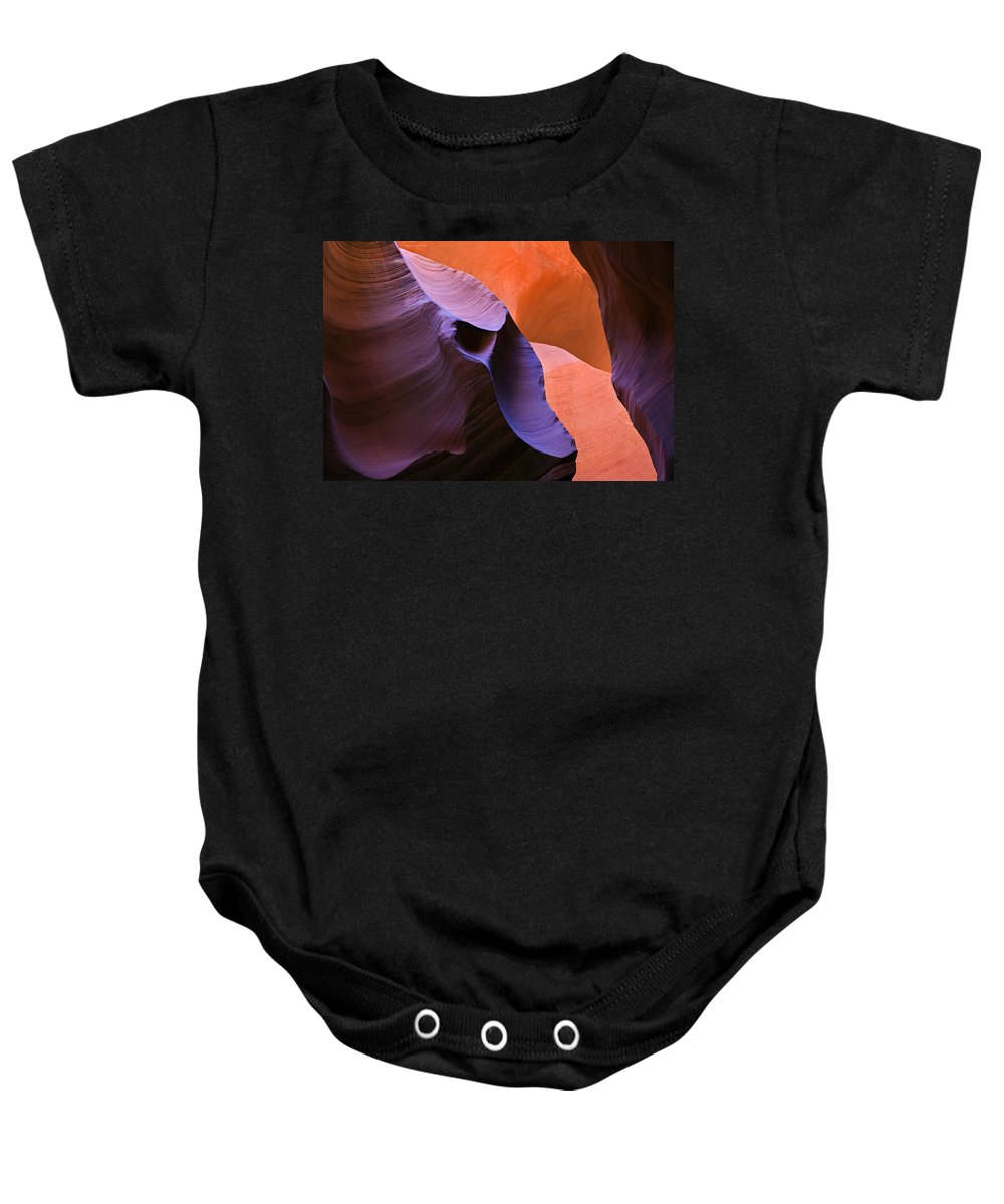 Sandstone Baby Onesie featuring the photograph Sandstone Apparition by Mike Dawson