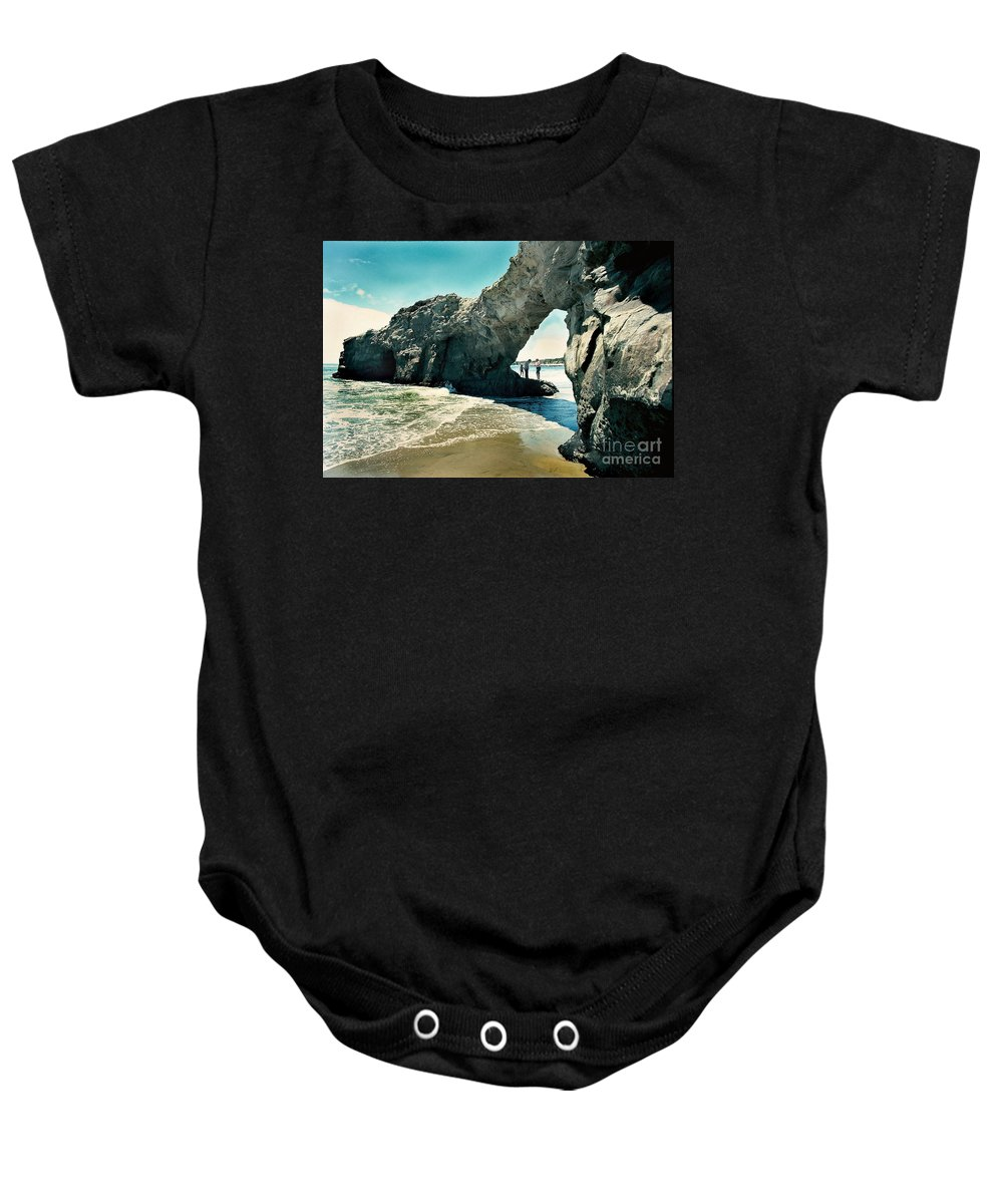 California Scenes Baby Onesie featuring the photograph Santa Cruz Beach Arch by Norman Andrus