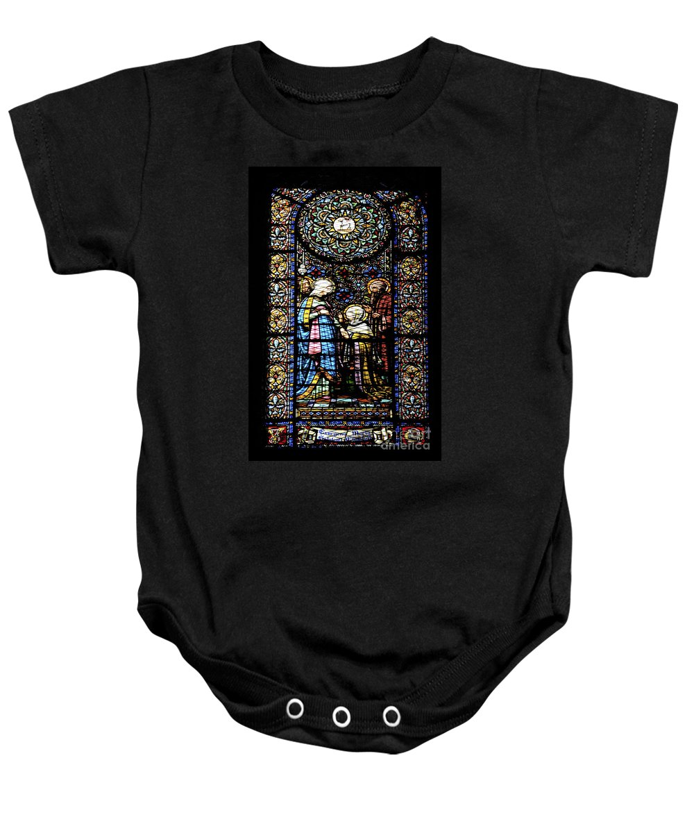 Religious Baby Onesie featuring the photograph Santa Maria De Montserrat Abbey 2 by Shay Levy