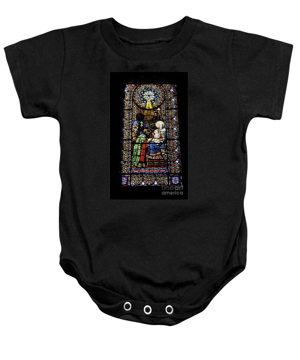 Religious Baby Onesie featuring the photograph Santa Maria De Montserrat Abbey by Shay Levy
