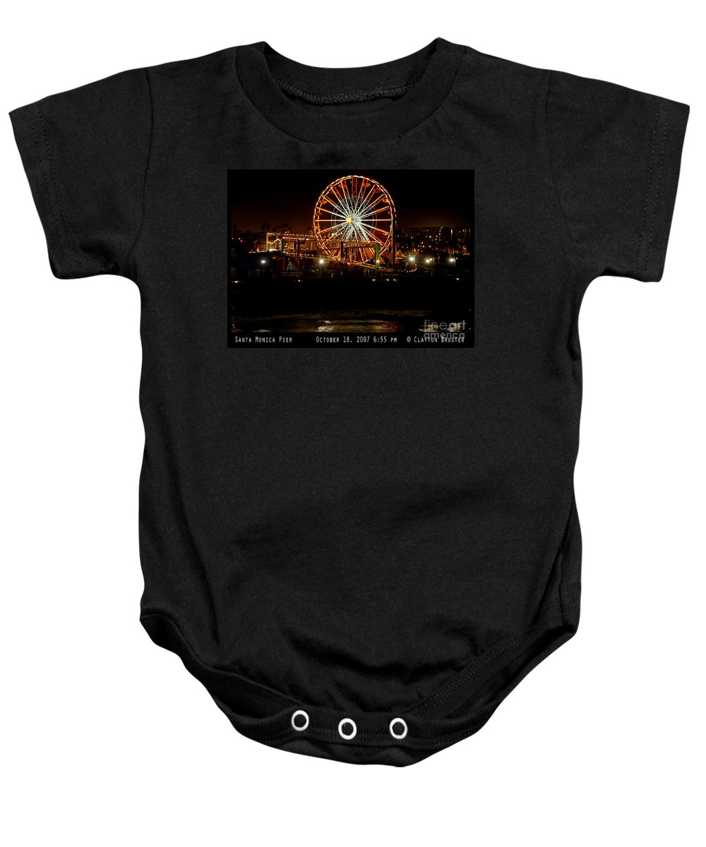 Clay Baby Onesie featuring the photograph Santa Monica Pier October 18 2007 by Clayton Bruster