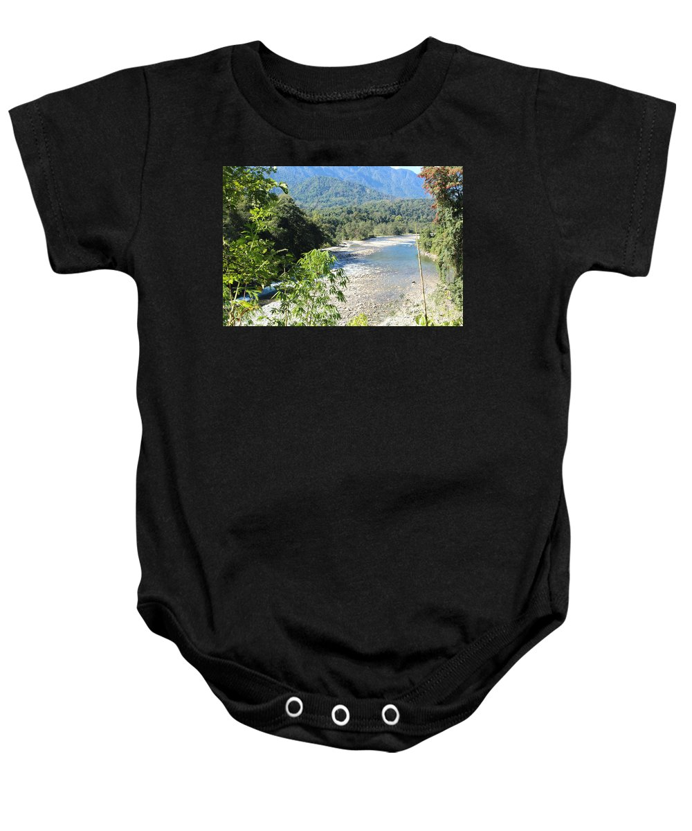 Scenery By Valeria Trot Baby Onesie featuring the photograph Scenery by Valeria New