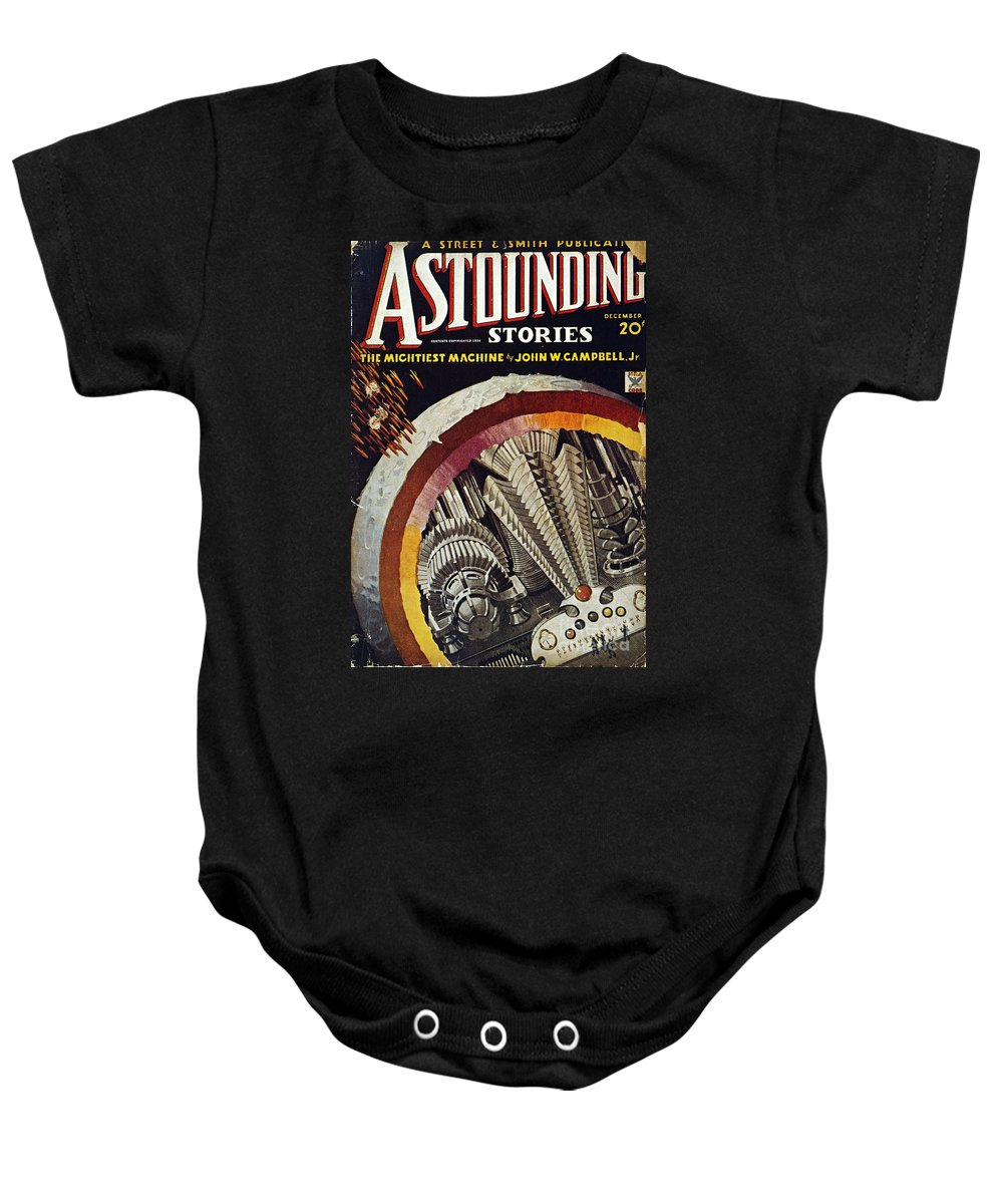 1934 Baby Onesie featuring the photograph Science Fiction Cover, 1934 by Granger