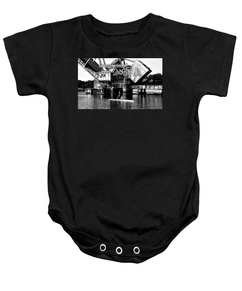 Sculling Baby Onesie featuring the painting Sculling For Two by David Lee Thompson