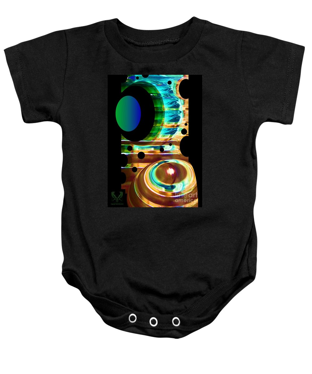 Colorful Baby Onesie featuring the photograph Sculpted Glass by Dale Crum