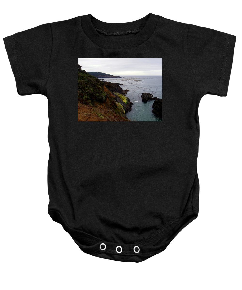 Seaside Baby Onesie featuring the photograph Seaside by Deborah Crew-Johnson
