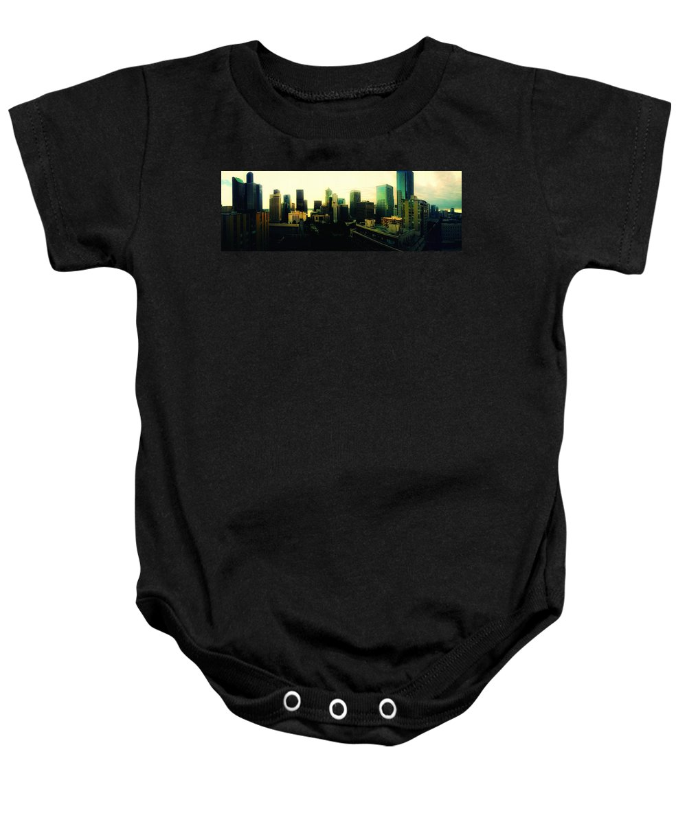 Seattle Baby Onesie featuring the photograph Seattle - Downtown by Eddie G