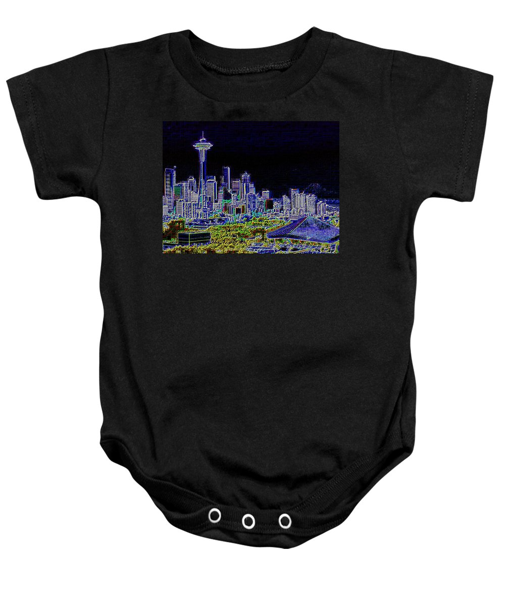 Seattle Baby Onesie featuring the photograph Seattle Quintessence by Tim Allen