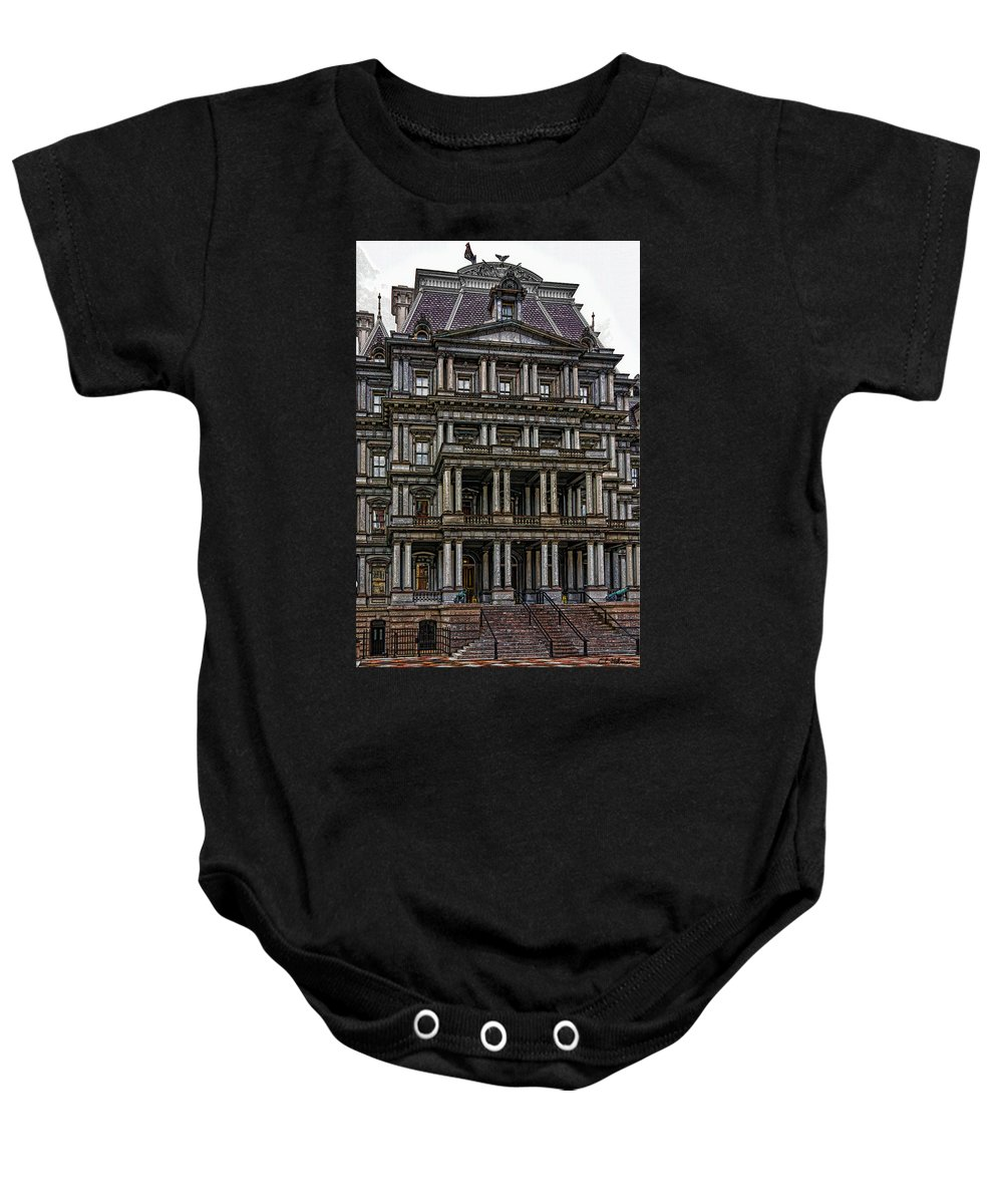 Building Baby Onesie featuring the photograph Second Empire by Christopher Holmes