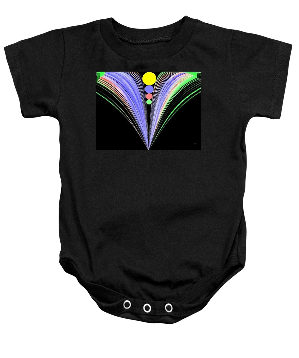 Abstract Baby Onesie featuring the digital art Security by Will Borden