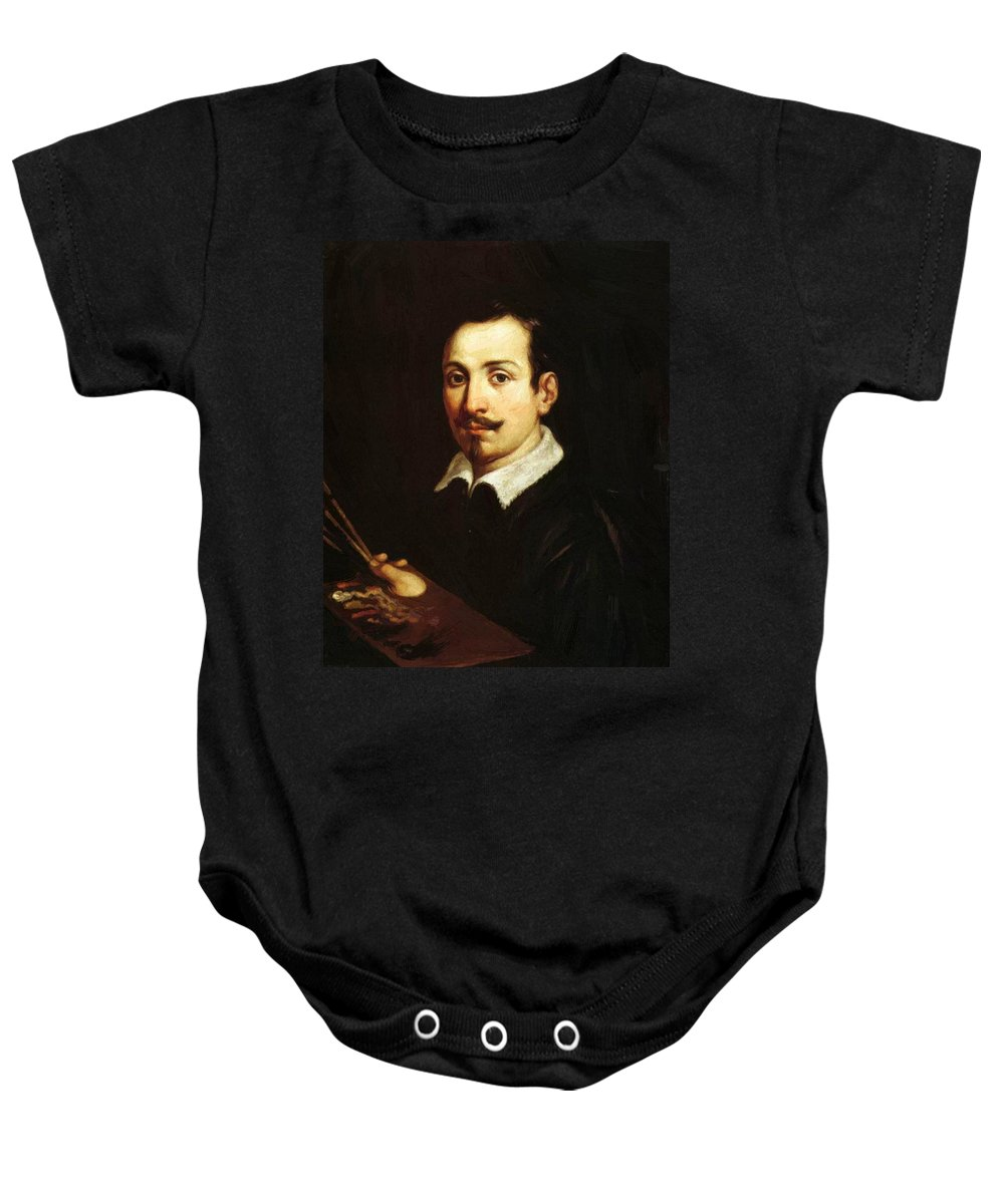 Self Baby Onesie featuring the painting Self Portrait 1604 by Reni Guido
