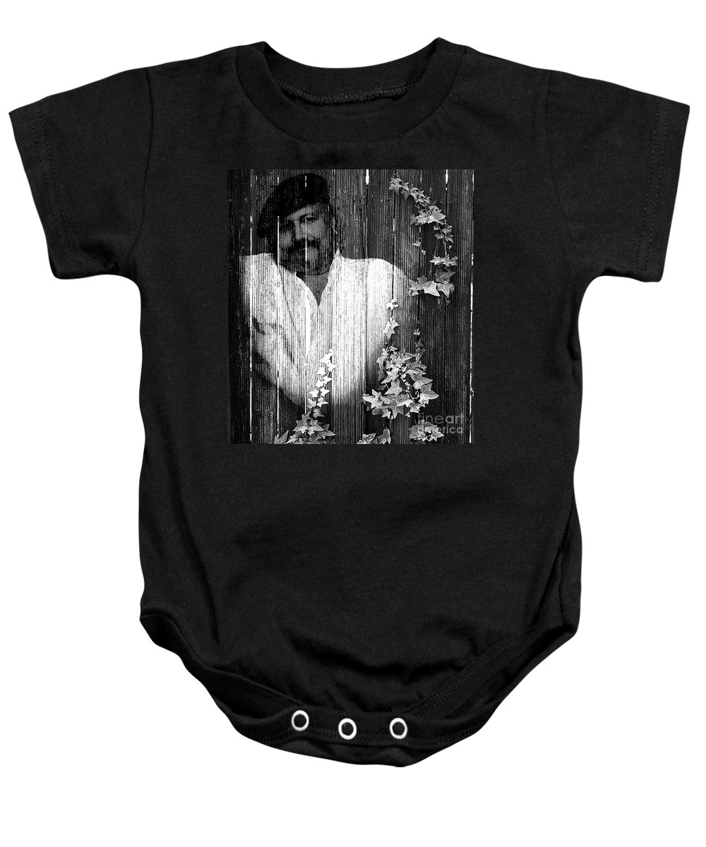 Clay Baby Onesie featuring the photograph Self Portrait by Clayton Bruster