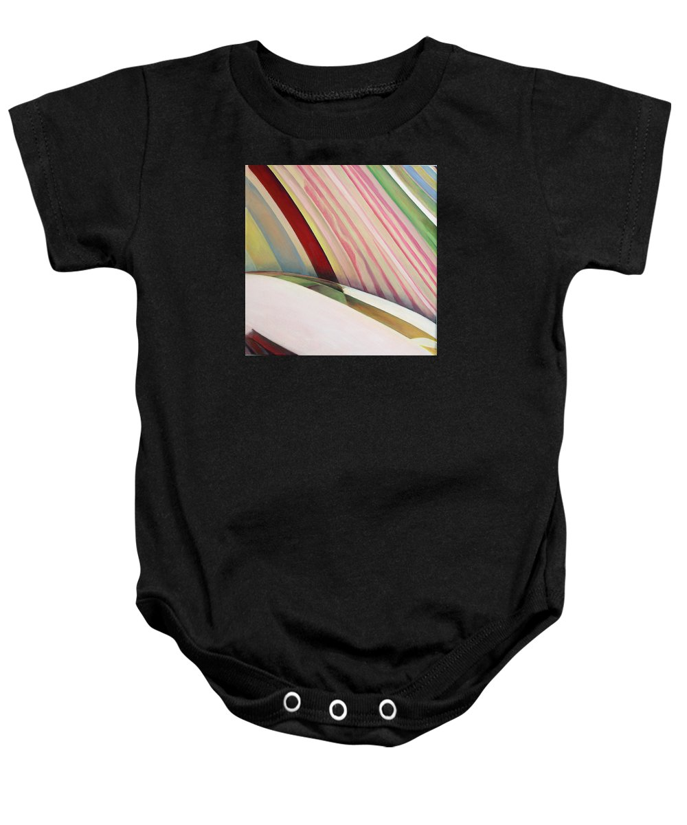 Abstract Baby Onesie featuring the painting Sens 1 by Muriel Dolemieux