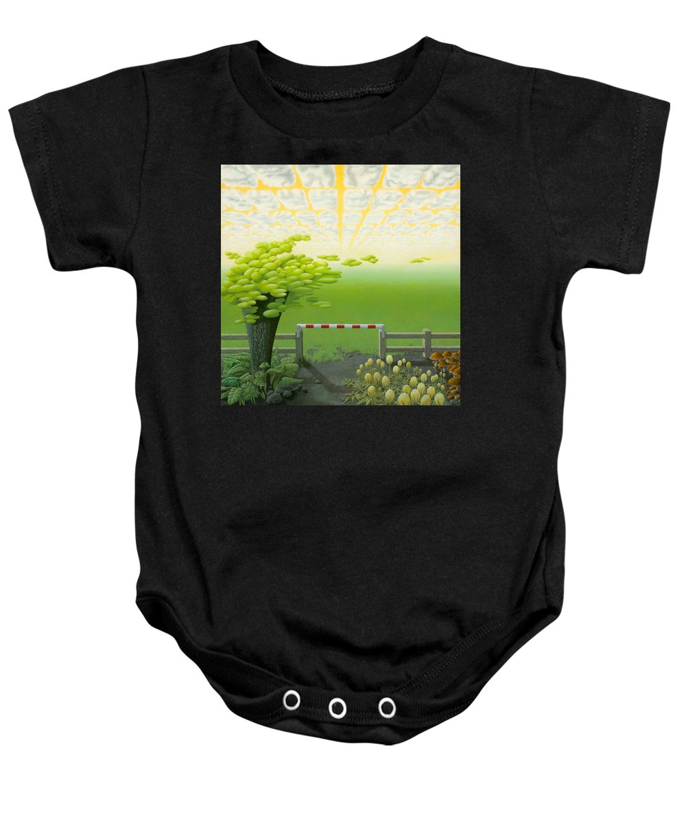 Tree Baby Onesie featuring the painting September by Patricia Van Lubeck