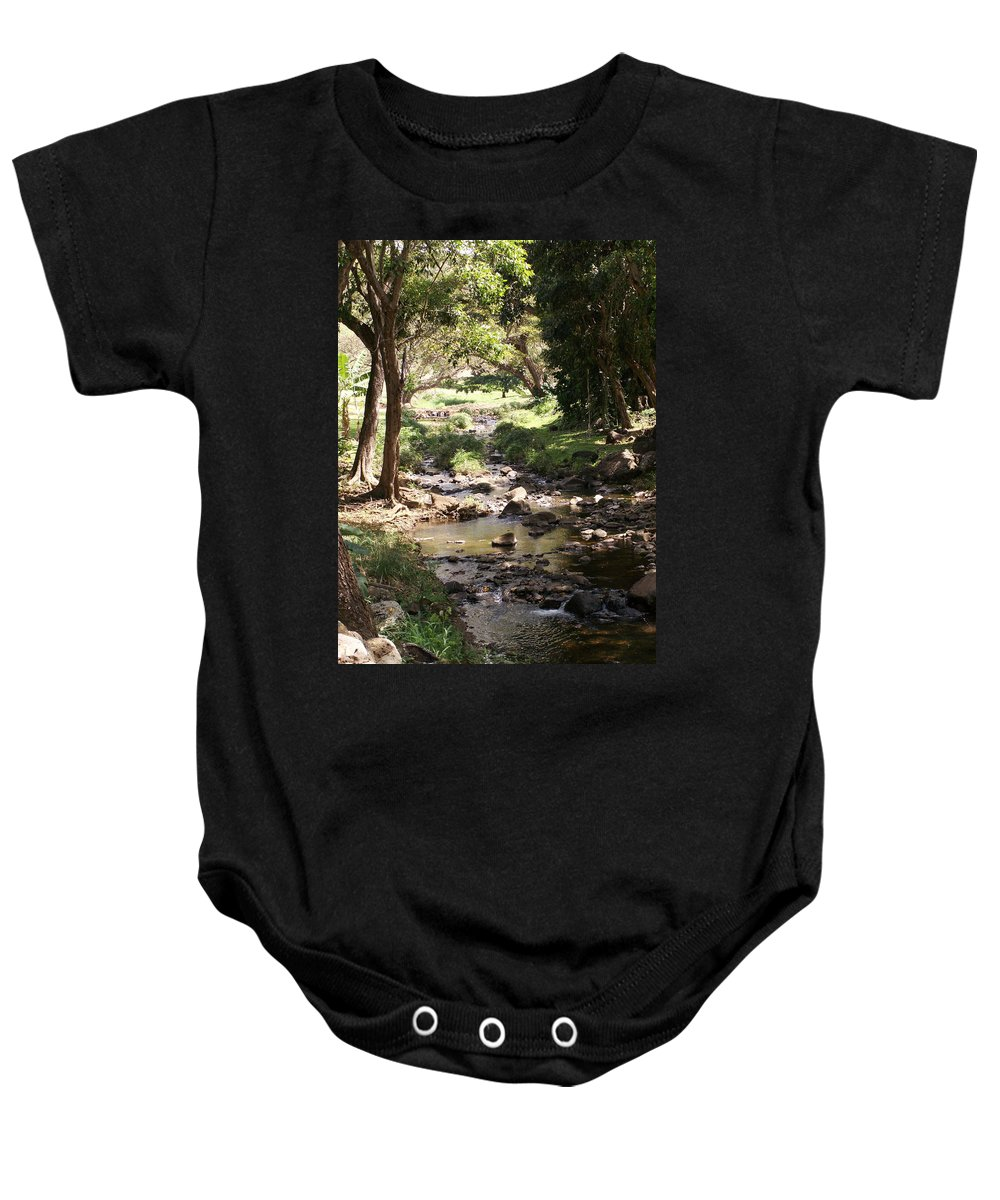 Kauai Baby Onesie featuring the photograph Serenity by Amy Fose