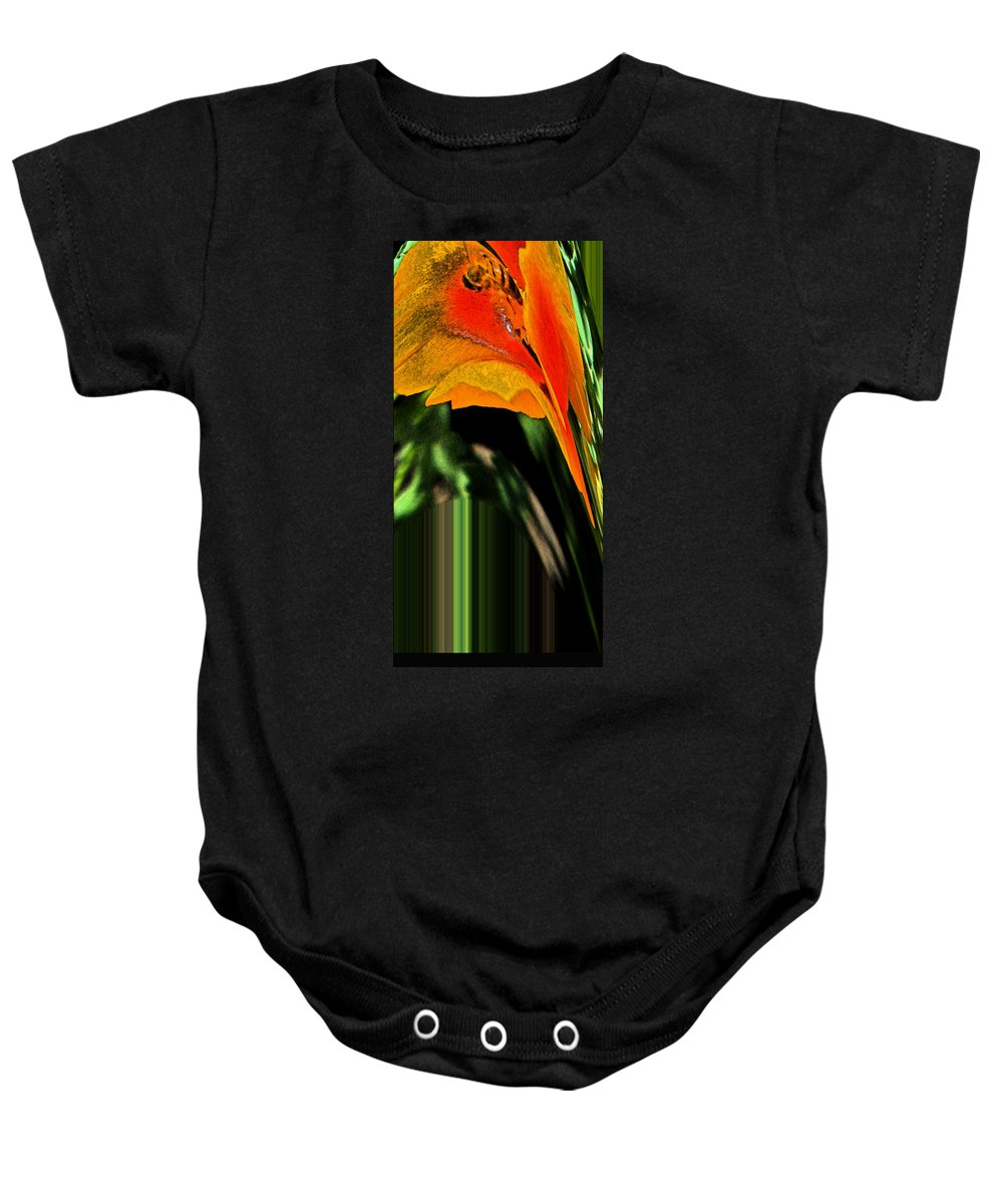 Abstract Baby Onesie featuring the digital art Serving The Queen by Lenore Senior