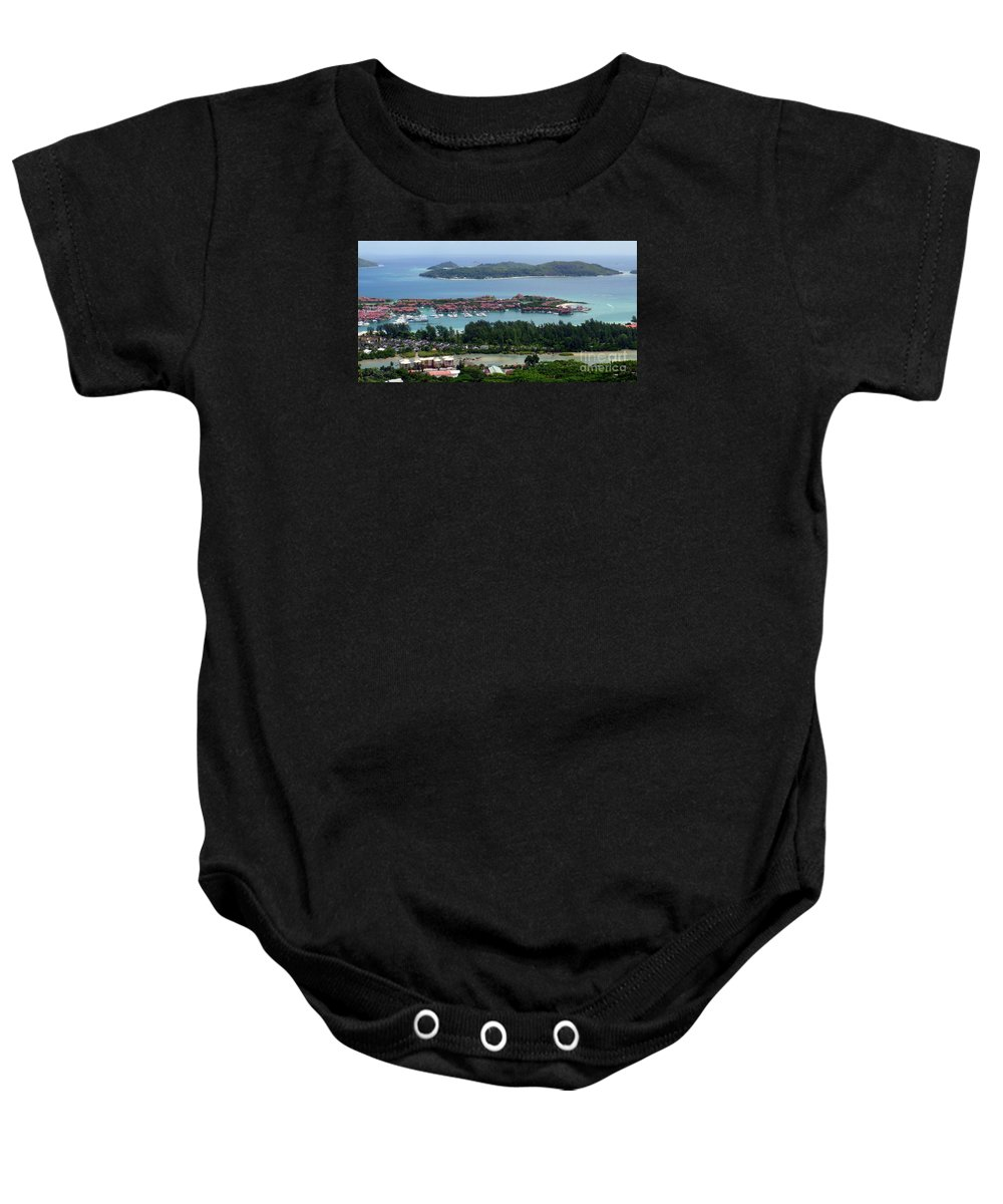 Seychelles Baby Onesie featuring the photograph Seychelles Islands by John Potts