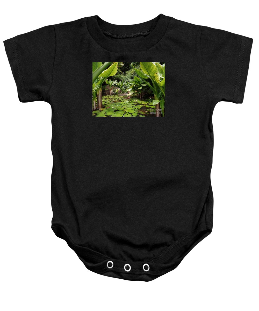 Seychelles Islands Baby Onesie featuring the photograph Seychelles Islands Pond by John Potts