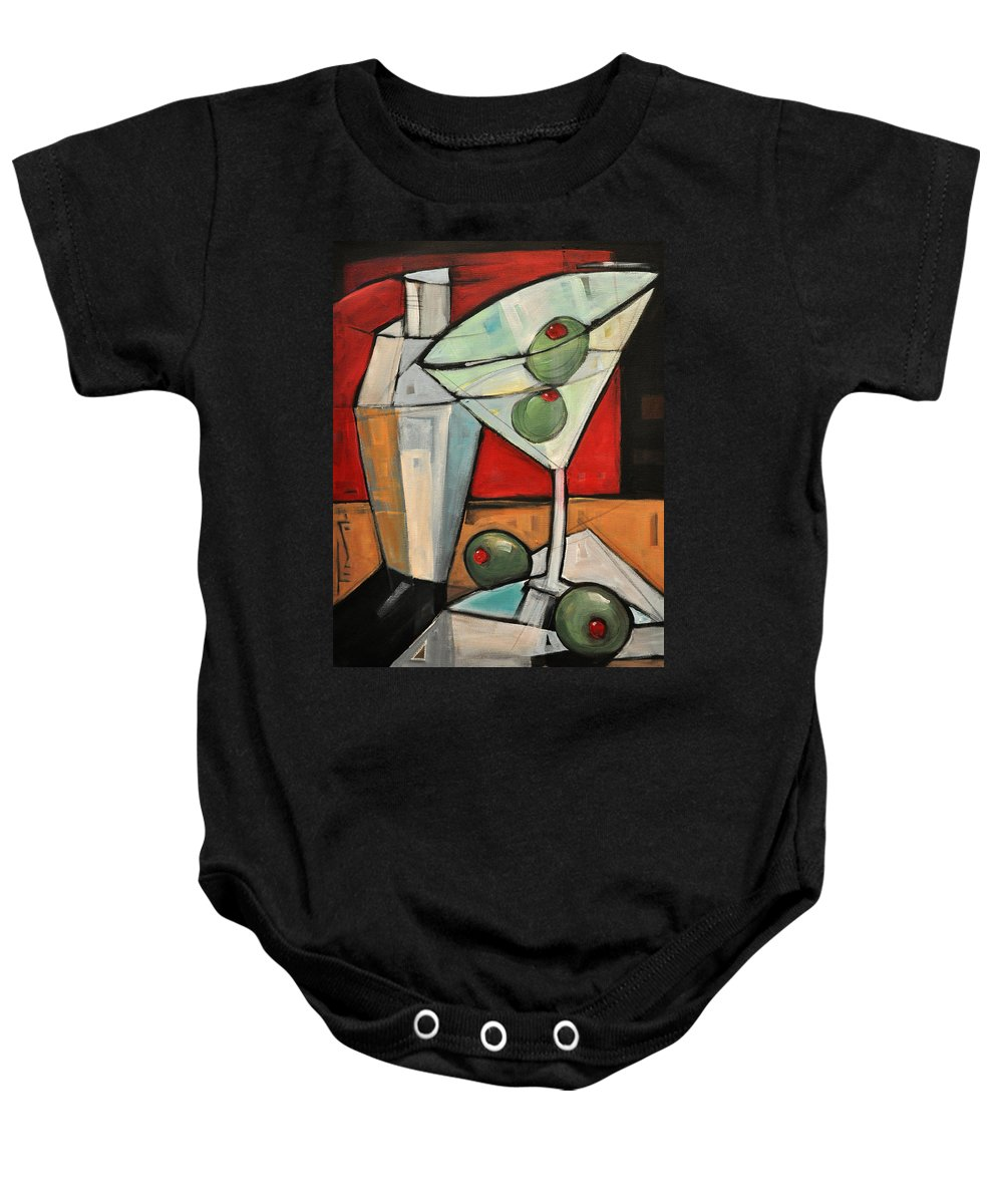 Martini Baby Onesie featuring the painting Shaken Not Stirred by Tim Nyberg