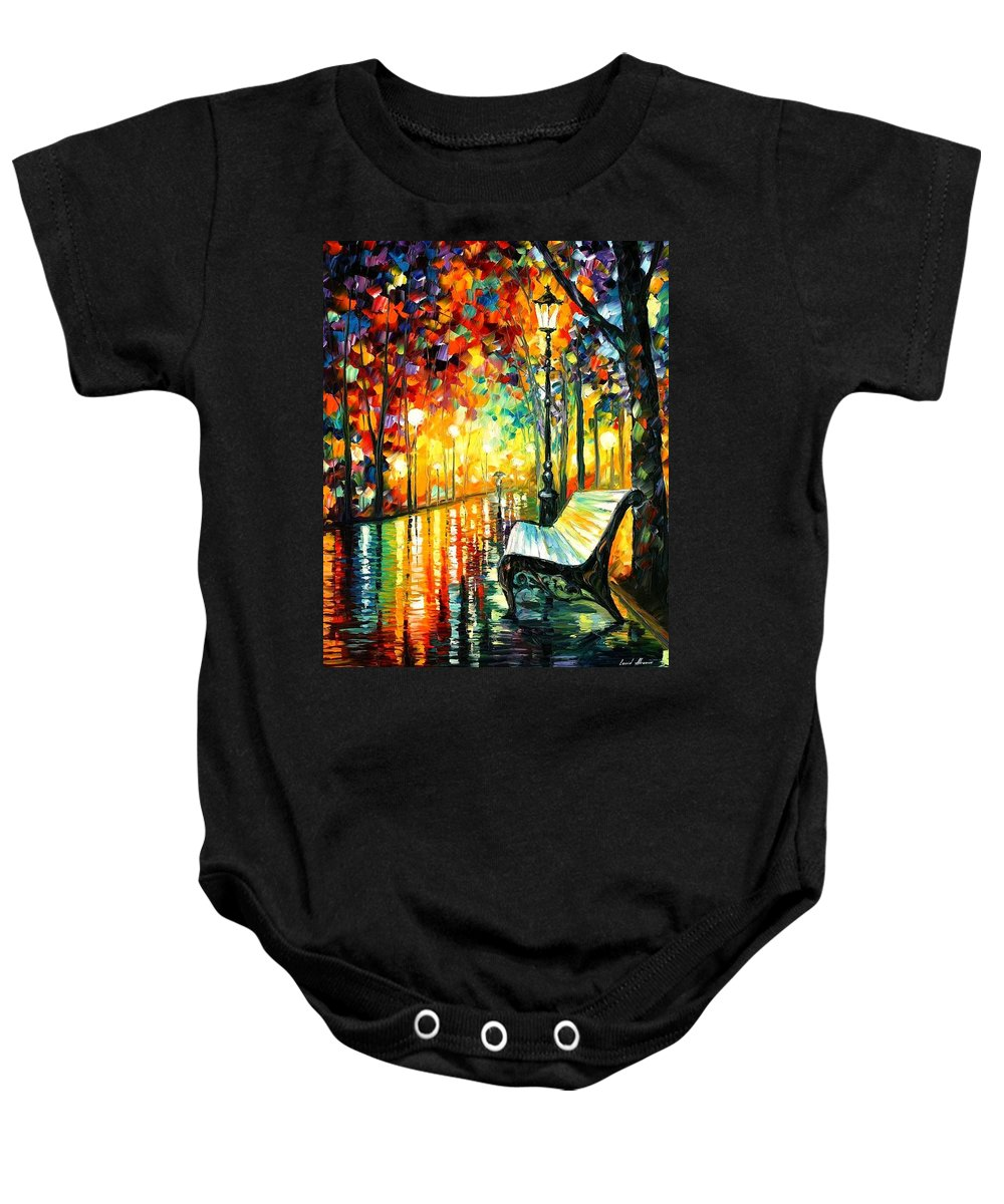 Afremov Baby Onesie featuring the painting She Left by Leonid Afremov
