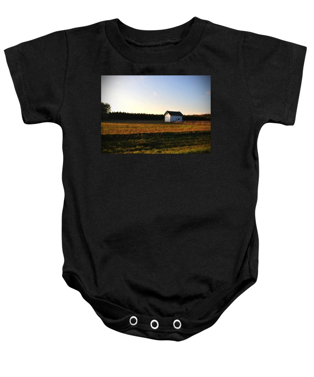 Fall Baby Onesie featuring the photograph Shed by Tim Nyberg