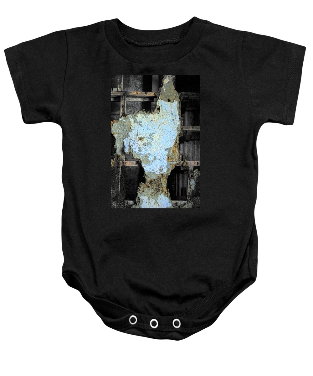 Eastern State Baby Onesie featuring the photograph Shedding The Years by Scott Wyatt