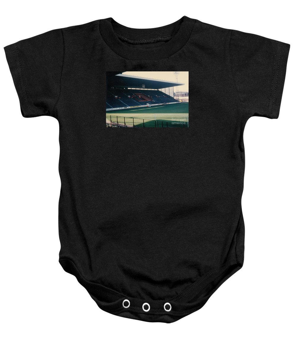 Baby Onesie featuring the photograph Sheffield United - Bramall Lane - South Stand 1 - 1970s by Legendary Football Grounds
