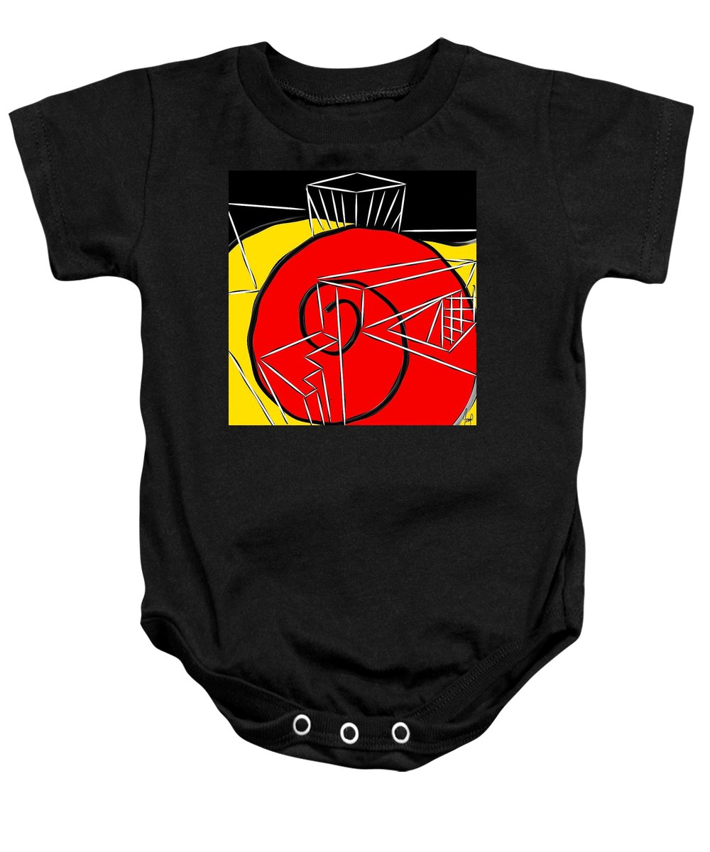 Color Baby Onesie featuring the digital art Shell by Yilmar Henry
