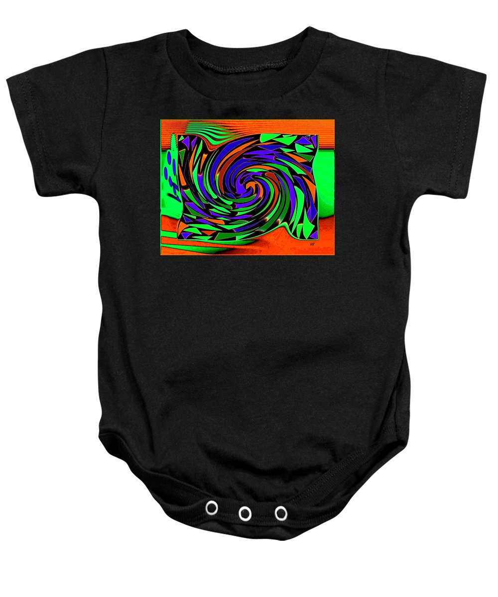 Sahara Baby Onesie featuring the digital art Shifting Sands by Will Borden