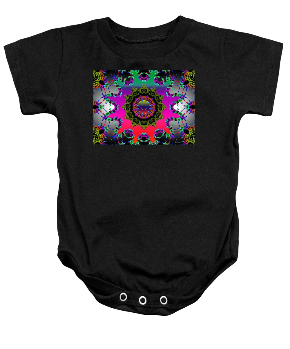 Flower Baby Onesie featuring the mixed media Shine On by Robert Orinski
