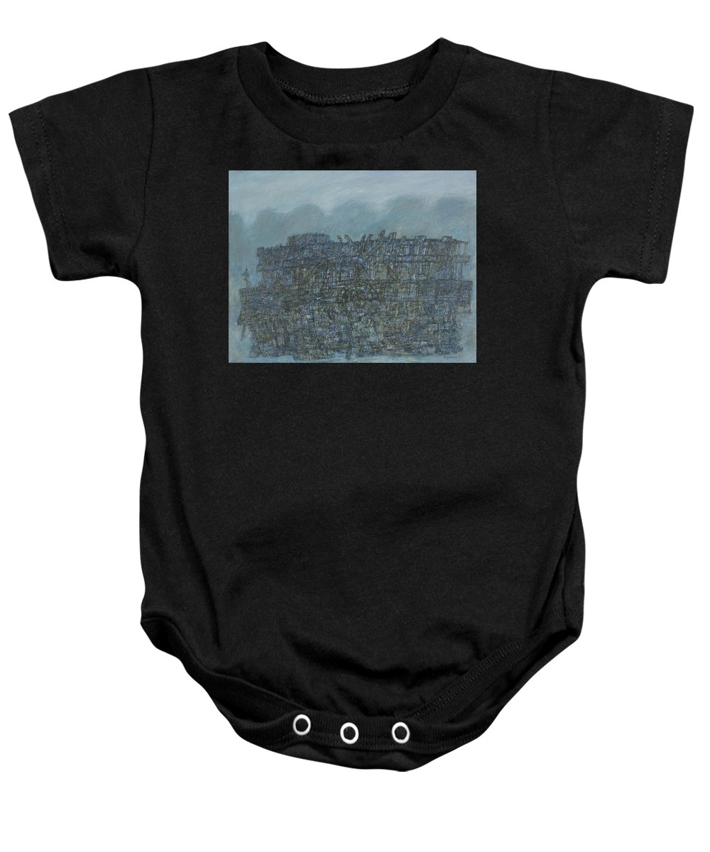 Ship Baby Onesie featuring the painting Ship by Robert Nizamov