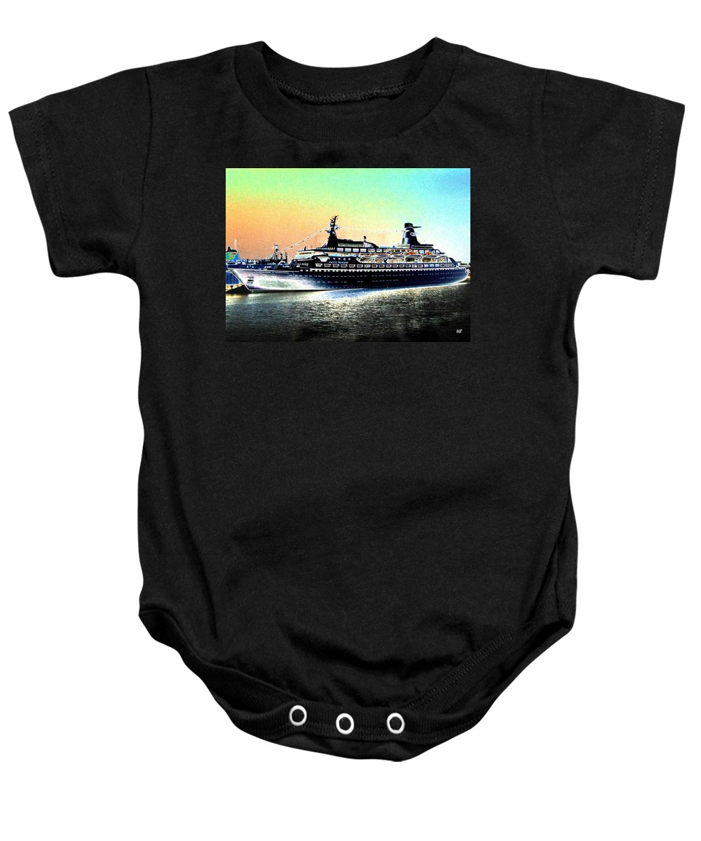 Photo Design Baby Onesie featuring the digital art Shipshape 1 by Will Borden