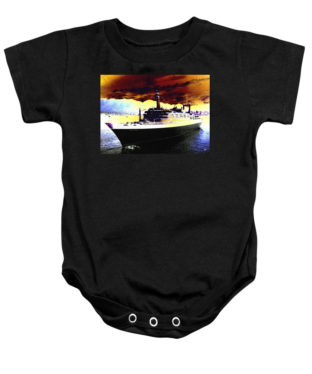 S S Rotterdam Baby Onesie featuring the digital art Shipshape 3 by Will Borden