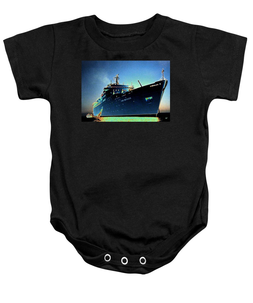 Puerto Vallarta Baby Onesie featuring the digital art Shipshape 9 by Will Borden