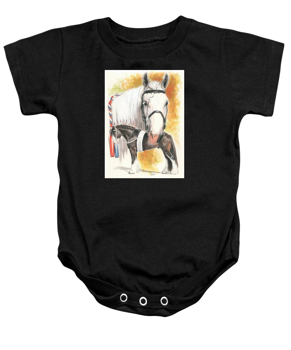 Shire Baby Onesie featuring the mixed media Shire by Barbara Keith