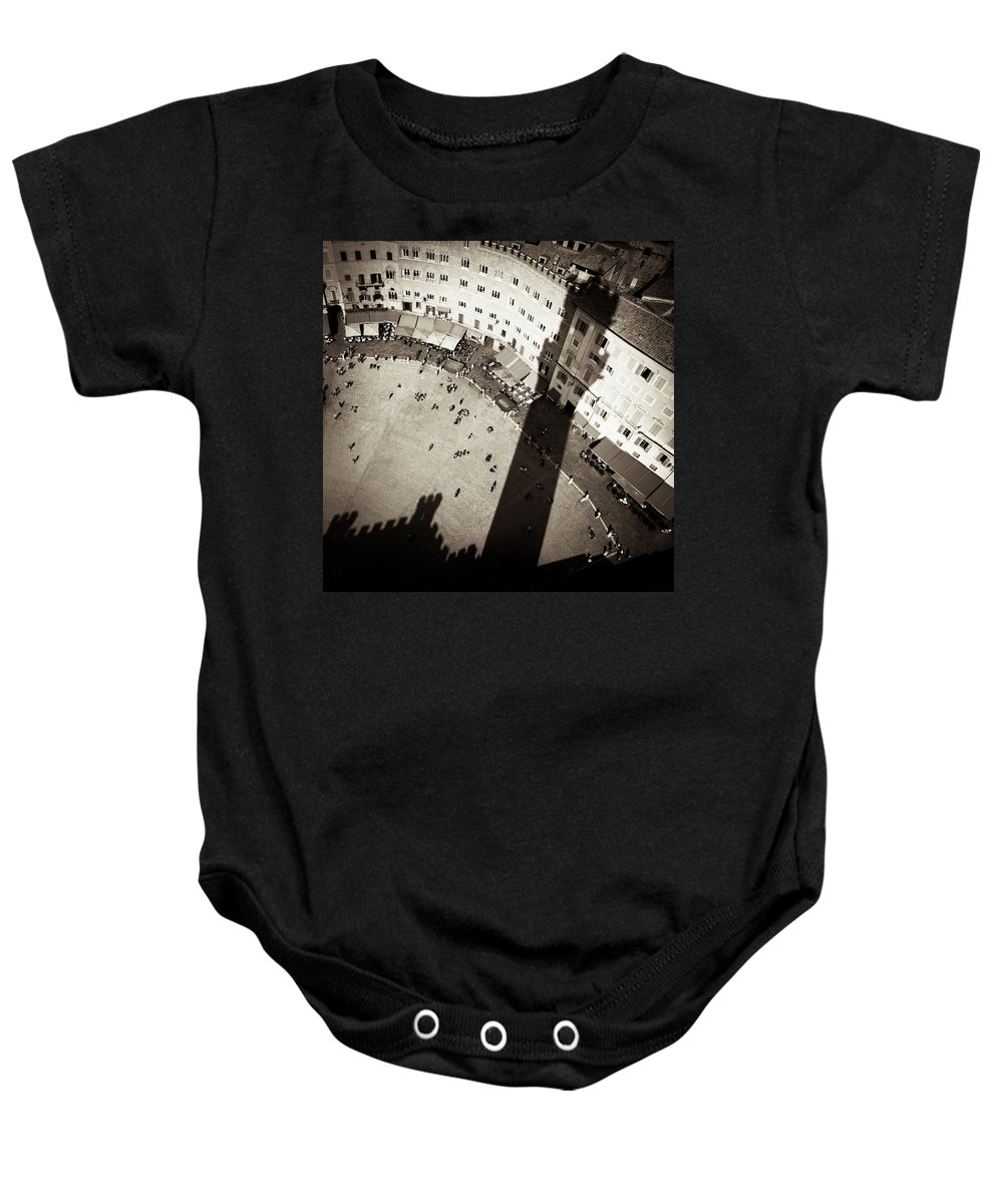 Siena Baby Onesie featuring the photograph Siena From Above by Dave Bowman