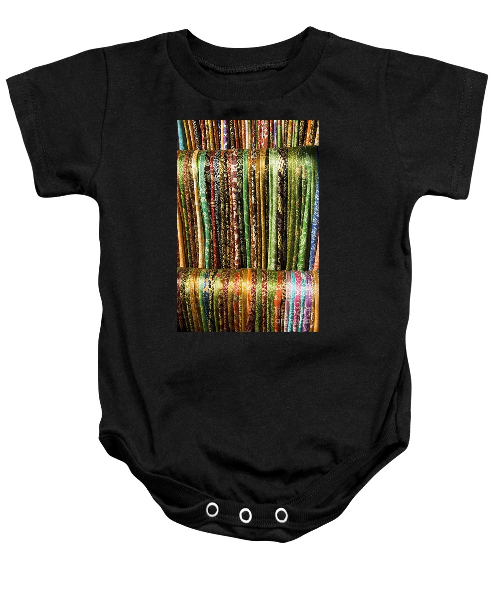 Asian Baby Onesie featuring the photograph Silk Scarves For Sale by Gloria and Richard Maschmeyer - Printscapes
